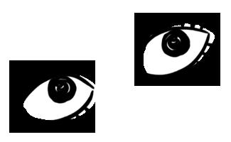 illustrazione occhi donna